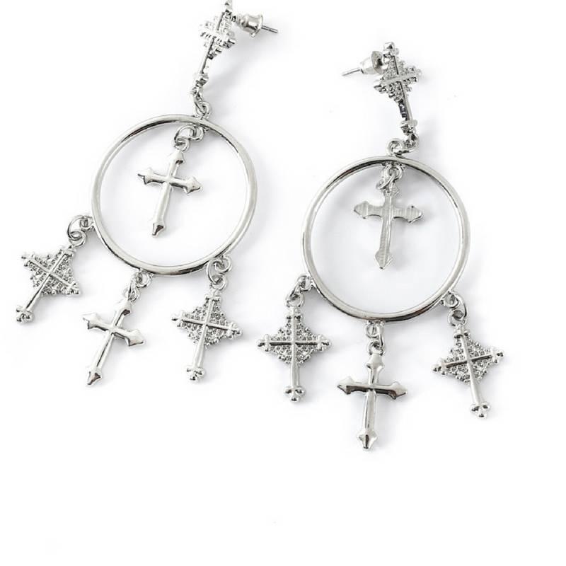 Romeo & Juliet Infinity Cross Earrings - BellaDonna Boutique Co.