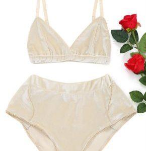 104d5a8718e682 Velvet Bralette   High Waist Shorts Set - BellaDonna Boutique Co.