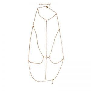 lead me on gold rhinestone harness bra