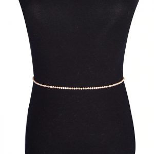 gold rhinestone waist chain